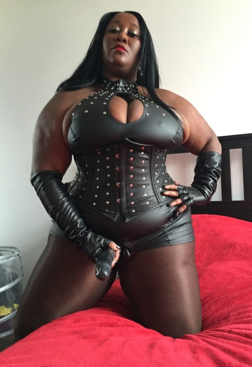 meaty black bbw straps on for femdom instructions