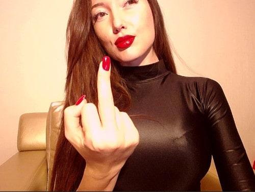 femdom goddess trains loser to masturbate